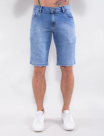 Bermuda Jeans Atacado Masculina Revanche Butão Azul Frente
