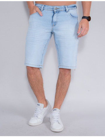 Bermuda Jeans Atacado Masculina Revanche Javi Azul Frente