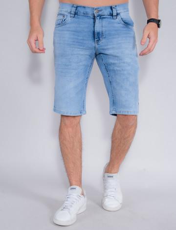Bermuda Jeans Atacado Masculina Revanche John Azul Frente