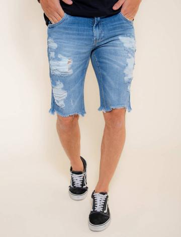 Bermuda Jeans Atacado Masculino Revanche Abeba Frente
