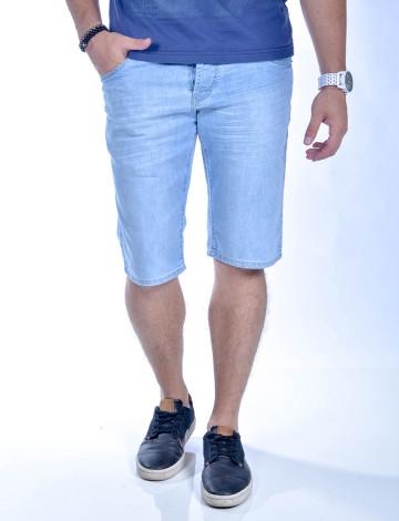 Bermuda Jeans Atacado Masculino Revanche Lima Palito Frente