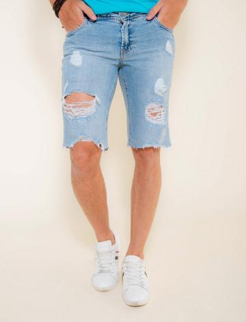 Bermuda Jeans Atacado Masculino Revanche Nova Deli Frente