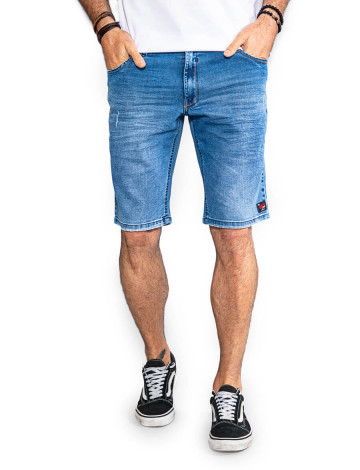 Bermuda Jeans Atacado Pocket Phone Masculina Revanche Perúsia Frente