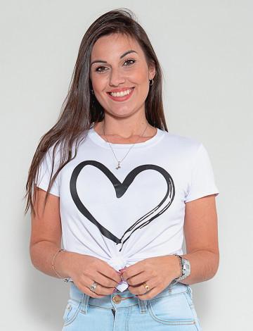 Blusa Atacado Feminina Revanche Coração Branco Frente