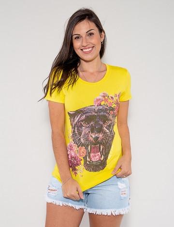 Blusa Atacado Tigre Feminina Revanche Fantina Amarelo Frente