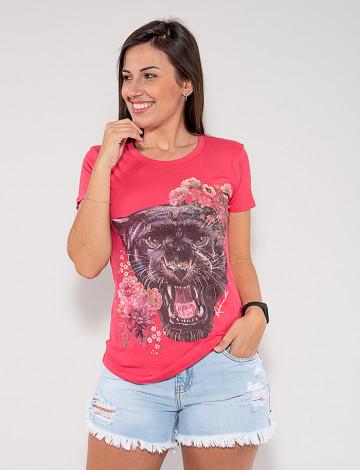Blusa Atacado Tigre Feminina Revanche Fantina Rosa Frente