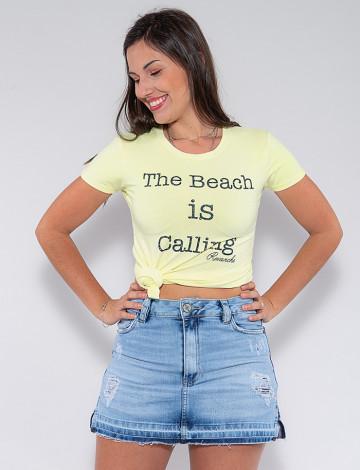 Blusa The Beach Atacado Feminina Revanche Leonda Amarelo Frente