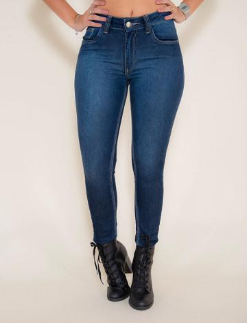 Calça Jeans Atacado Cigarrete Feminina Revanche Doa Azul Frente