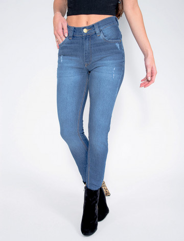 Calça Jeans Atacado Cigarrete Feminina Revanche Salvador Azul