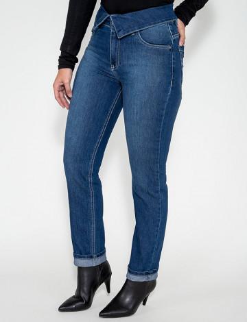 Calça Jeans Atacado cigarrete Feminino Revanche Vitória Frente