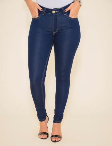 Calça Jeans Atacado Cigarrete Feminino Revanche Zurie Azul Frente