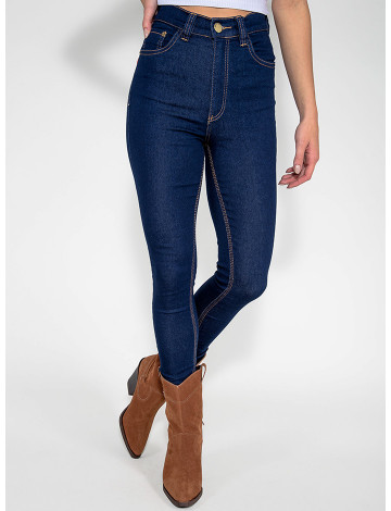 Calça Jeans Atacado Cigarrrete Hot Pants Feminina Revanche Leste Azul Frente