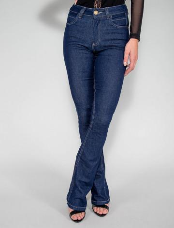 Calça Jeans Atacado Flare Feminina Revanche Coque Azul Frente