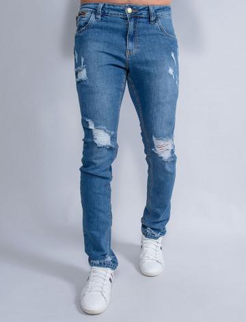 Calça Jeans Atacado Reta Masculina Revanche Henry Azul Frente