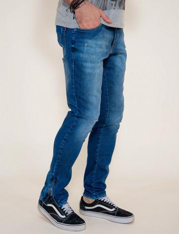 Calça Jeans Atacado Ziper Lateral Masculino Revanche Lyon Lateral