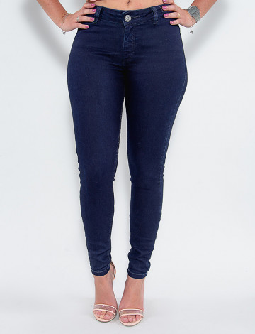 Calça Jeans Atacado Cigarrete Feminina Revanche Bellanita Azul Frente
