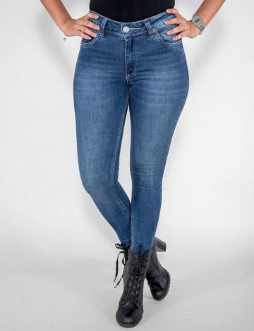 Calça Jeans Atacado Cigarrete Feminina Revanche Buenos Aires Azul Frente