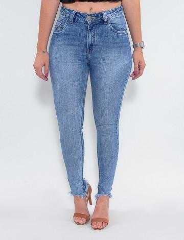 Calça Jeans Atacado Cigarrete Feminina Revanche Cherell Azul Frente