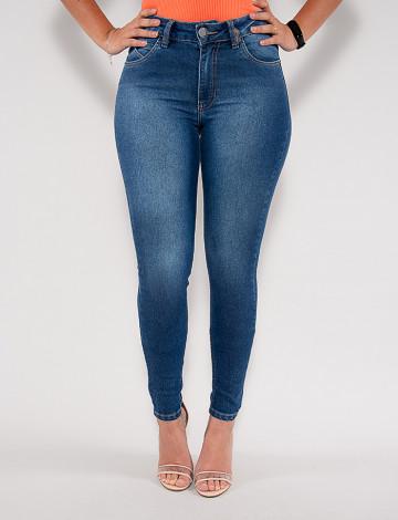 Calça Jeans Atacado Cigarrete Feminina Revanche Faun Azul Frente