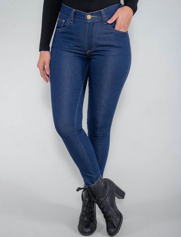Calça Jeans Atacado Cigarrete Feminina Revanche Finlândia Azul Frente