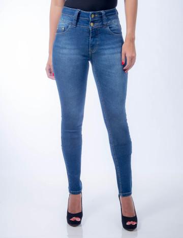 Calça Jeans Atacado Cigarrete Feminina Revanche Roseau Frente