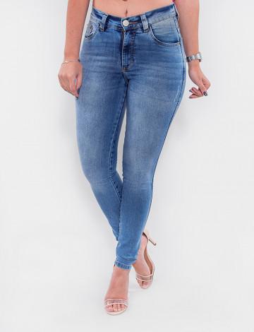 Calça Jeans Atacado Cigarrete Feminina Revanche Tajiquistão Azul Frente