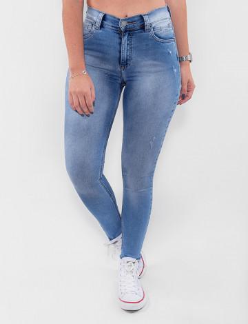 Calça Jeans Atacado Cigarrete Feminina Revanche Vietname Azul Frente