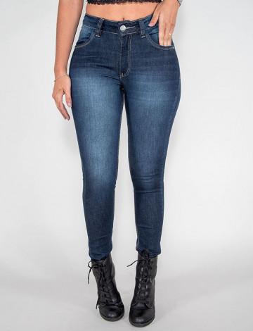 Calça Jeans Atacado Cigarrete Feminino Revanche Quinxassa Azul Frente