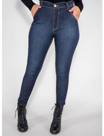 Calça Jeans Atacado Cigarrete Hot Pants Feminina Revanche Pequim Azul Frente