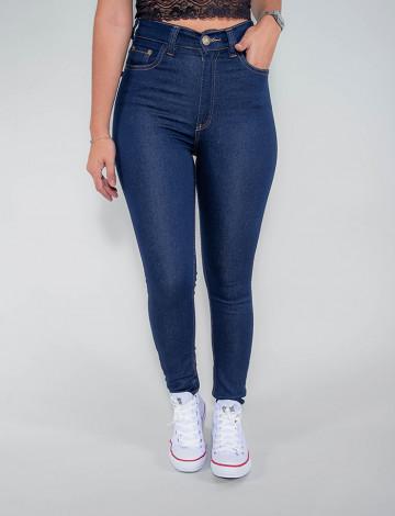 Calça Jeans Atacado Cigarrete Hot Pants Feminina Revanche Portugal Azul Frente