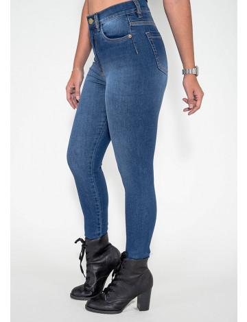 Calça Jeans Atacado Cigarrete Modeladora Feminina Revanche Praia 2 Lateral