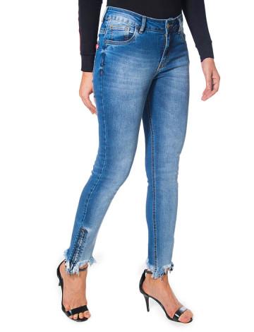 Calça Jeans Atacado Cigarrete Zíper na Barra Feminina Revanche Nashville Frente