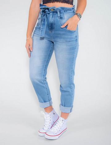 Calça Jeans Atacado Clochard Feminina Revanche Suécia Azul Frente