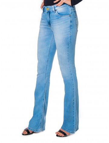 Calça Jeans Atacado Flare Bolso Diferente Feminina Revanche Táranto Frente