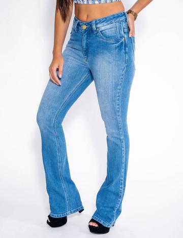 Calça Jeans Atacado Flare Feminina Feminina Revanche Bordeaux Frente