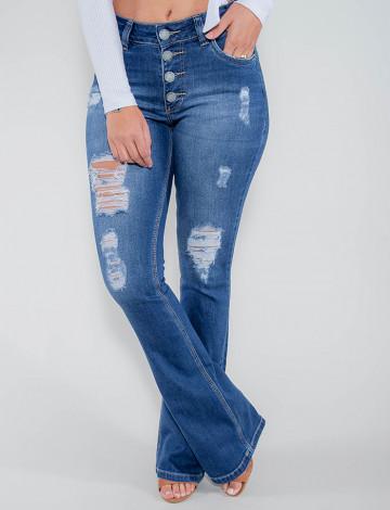 Calça Jeans Atacado Flare Feminina Revanche Líbano Frente