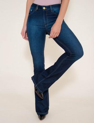 Calça Jeans Atacado Flare Feminina Revanche Saraievo Azul Frente