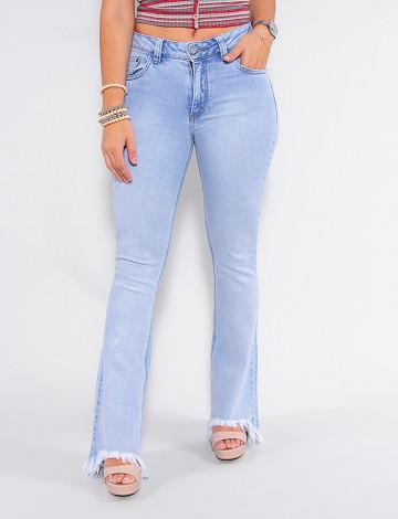 Calça Jeans Atacado Flare Feminina Revanche Victorine Azul Frente