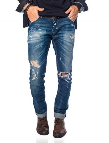 Calça Jeans Atacado Frente Tradicional Masculina Revanche Chicago Azul Frente