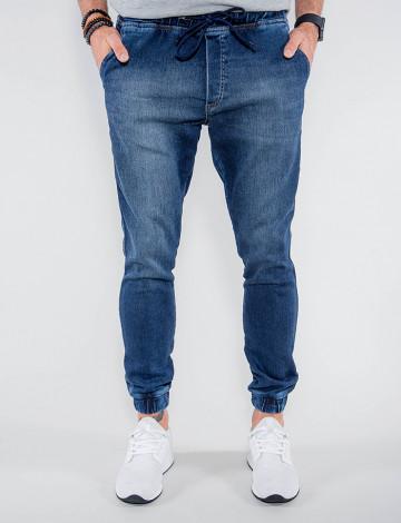 Calça Jeans Atacado Jogger Masculina Revanche Índia Azul Frente