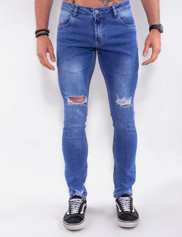 Calça Jeans Atacado Masculina Revanche Costa Rica Azul Frente