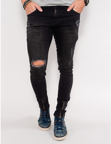 Calça Jeans Atacado Masculina Revanche Cyprien Preto Frente