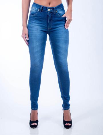 Calça Jeans Atacado Skinny Básica Feminina Revanche Tunisia Frente