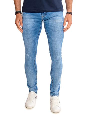 Calças Jeans Atacado Skinny Masculino Revanche Ferrara Azul Frente