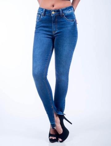 Calça Jeans Atacado Skinny Solta Feminina Revanche Omã Frente Cruzada