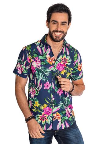 fc34a85a80 Camisa Atacado Florida Manga Curta Masculina Revanche Havai II ...