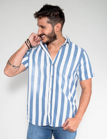 Camisa Jeans Atacado Masculina Revanche Cuba Lado