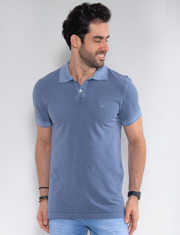 Camisa Polo Atacado Masculino Revanche Compenhag Azul Murano Frente