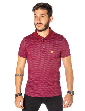 Camisa Polo Atacado Microestampa Masculina Revanche Boston Bordo Frente