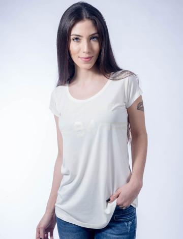 Camiseta Atacado Basica Feminino Revanche B84 Off-White Frente